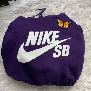 Reworked Purple Nike SB pull over!